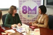 A secretaria xeral da Igualdade, Susana López Abella, mantivo hoxe unha xuntanza de traballo coa alcaldesa de Mos, Nidia Arévalo