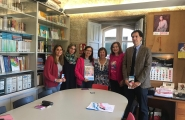 A secretaria xeral da Igualdade visita a Asociación de Diagnosticadas de Cancro de Mama de Pontevedra (Adicam)