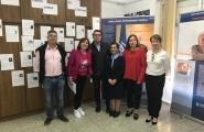 La secretaria general de la Igualdad, Susana López Abella, visitó esta mañana la exposición de los Premios María Josefa Wonenburguer