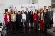 El vicepresidente de la Xunta, Alfonso Rueda asistió al acto de presentación de la iniciativa Referentes Gallegas, que tuvo lugar esta mañana en la Cidade da Cultura