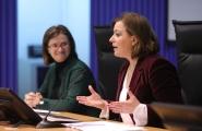 A secretaria xeral da Igualdade, Susana López Abella, inaugurou hoxe o I Encontro das emprendedoras do programa 'Emega'
