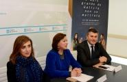 A secretaria xeral da Igualdade, Susana López Abella, e o delegado territorial na Coruña, Ovidio Rodeiro, informaron dos actos arredor da xornada do próximo 25