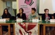 Susana López Abella participou na mesa redonda da I Xornada contra a Violencia de Xénero, que tivo lugar onte pola tarde, no concello lucense de Lourenzá