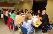 El vicepresidente de la Xunta, Alfonso Rueda asistió hoy a la reunión del Pleno Mujer y Ciencia, donde se designó a la premiada este año con el Premio María Josefa Wonenburger Planells 2016, que recayó en la catedrática de matemática aplicada de la USC, Peregrina Quintela Estévez