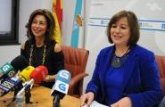 Susana López Abella e Marisol Díaz Mouteira presentaron en rolda de prensa as axudas concedidas a 40 concellos da provincia de Ourense para promoción da igualdade