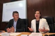 A secretaria xeral da Igualdade, Susana López Abella, e o delegado territorial da Xunta, Ovidio Rodeiro, mantiveron hoxe unha xuntanza coas entidades e os CIM
