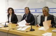 A secretaria xeral da Igualdade, Susana López Abella; a directora xeral de Familia, Infancia e Dinamización Demográfica, Amparo González; e a directora xeral da Fundación Meniños, Mónica Permuy, presentaron hoxe esta iniciativa