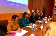 A secretaria xeral da Igualdade, Susana López Abella, e o delegado territorial da Xunta en Lugo, José Manuel Balseiro, visitaron hoxe o CIFP Politécnico de Lugo, o primeiro centro educativo que implanta un Plan de Igualdade
