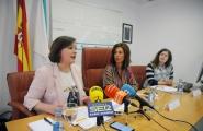 La secretaria general de la Igualdad, Susana López Abella, y la delegada territorial en Ourense, Marisol Díaz Mouteira, presentaron en rueda de prensa ayudas para entidades locales destinadas a favorecer la igualdad de género