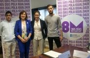 A secretaria xeral da Igualdade, Susana López Abella, reuniuse hoxe con representantes das asociacións ALAS Coruña, Arelas, CASCO e Nós Mesmas