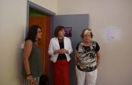 A secretaria xeral da Igualdade, Susana López Abella, visitou hoxe en Vigo a sede da Asociación Érguete