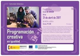 """Programa Diana 2017: """"Programación creativa en igualdad"""""""