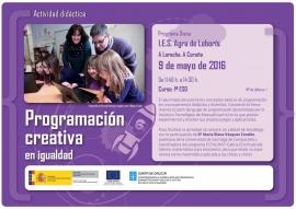 """Programa Diana: talleres  """"Programación creativa en Igualdade"""""""