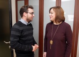 A secretaria xeral da Igualdade reúnese co actor e director Rubén Riós
