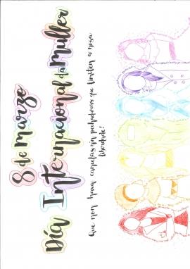 Cartel del colegio Santo Ángel de Ourense