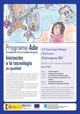 A Xunta leva aos centros de ensimo un Programa para promover a Igualdade nos estudos relacionados coa tecnoloxía