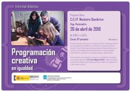 """Programa DIANA 2018: """"Talleres de Programación Creativa en Igualdade"""""""