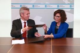 O vicepresidente da Xunta, Alfonso Rueda, e a presidenta de Executivas de Galicia, Carla Reyes, asinaron hoxe un convenio neste sentido