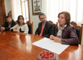 Susana López Abella na súa visita ao Centro