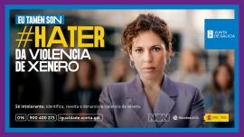 """A Xunta lanza a campaña """"Haters da Violencia de Xénero"""" para combater e crear comunidade contra esta lacra"""