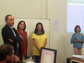 La secretaria general de la Igualdad, Susana López Abella, participó hoy en la presentación del taller 'Confianza y seguridad de las mujeres en la Red'