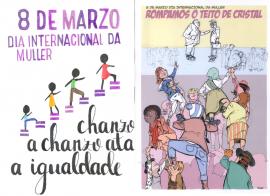 Carteis gañadores do Colexio Santo Ángel de Ourense e do IES Lauro Olmo de O Barco de Valdeorras