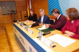 Alfonso Rueda participó hoy en la firma de un convenio con la Federación Galega de Balonmán
