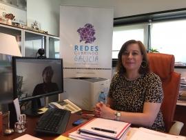 A secretaria xeral da Igualdade, Susana López Abella, mantivo unha reunión por videoconferencia coa presidenta de Femuro, María Isabel Garrido Blanco