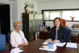 La Secretaria General de la Igualdad, Susana López Abella, mantiene una reunión de trabajo con María Elena Paz Álvarez, la Presidenta de la Asociación de Viudas María Andrea