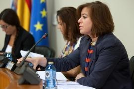 Susana López Abella durante su comparecencia en el Parlamento (Autor: Ana Varela)