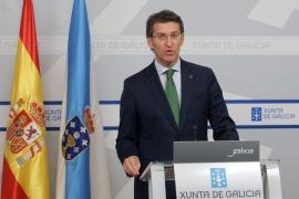 El presidente de la Xunta en la rueda de prensa tras la reunión del Consello